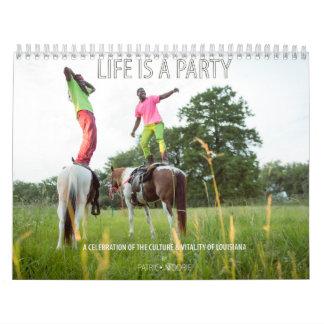 La vida es un fiesta calendarios de pared