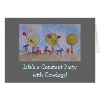 la vida es un fiesta vida es una vaca constante d felicitación