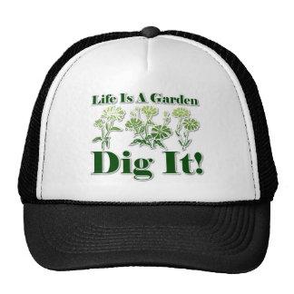 La vida es un jardín gorros