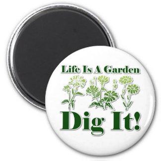La vida es un jardín imán para frigorifico