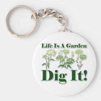 La vida es un jardín llaveros