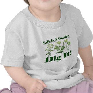La vida es un jardín camisetas