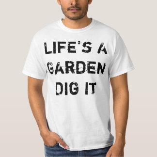 La vida es un jardín remera