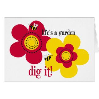 La vida es un jardín felicitación