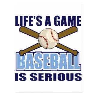 La vida es un juego, béisbol es seria postal