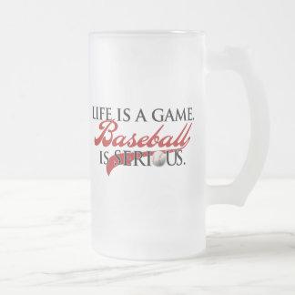 La vida es un juego, béisbol es seria taza de cristal