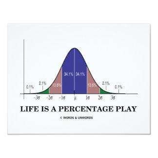 La vida es un juego del porcentaje (el humor de comunicado personalizado