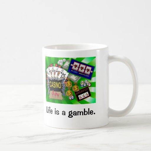 La vida es un juego tazas de café