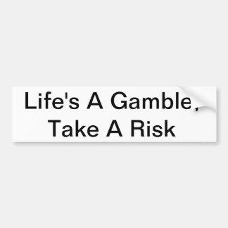 La vida es un juego, toma a una pegatina para el p pegatina de parachoque