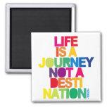 La vida es un Jurney Imanes Para Frigoríficos