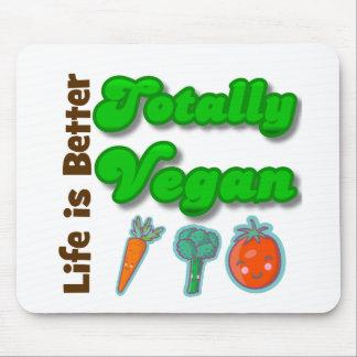 La vida es un mejor totalmente vegano tapete de raton