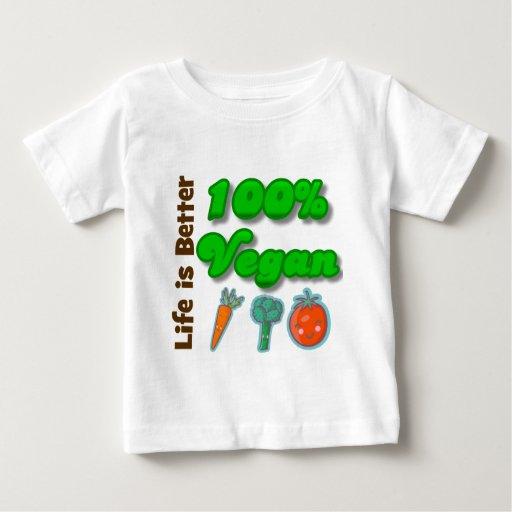 La vida es un mejor vegano del 100 por ciento t-shirt
