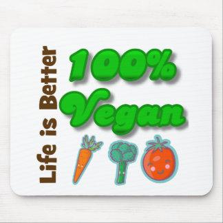 La vida es un mejor vegano del 100 por ciento tapetes de ratón