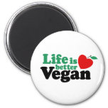 La vida es un mejor vegano iman de nevera