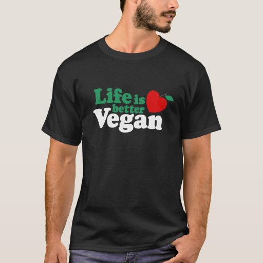 La vida es un mejor vegano playera