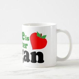 La vida es un mejor vegano tazas de café