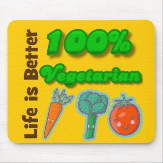 La vida es un mejor vegetariano del 100 por ciento tapetes de ratón
