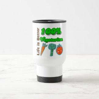 La vida es un mejor vegetariano del 100 por ciento taza de café