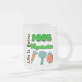 La vida es un mejor vegetariano del 100 por ciento tazas de café