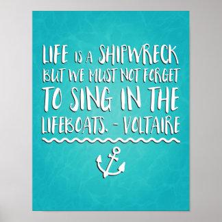 La vida es un naufragio póster
