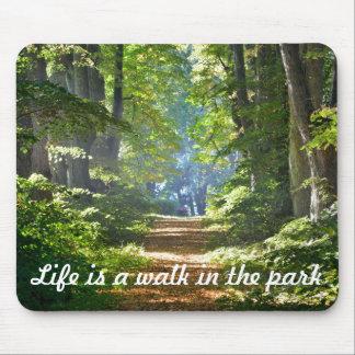 La vida es un paseo en el cojín de ratón del mousepad