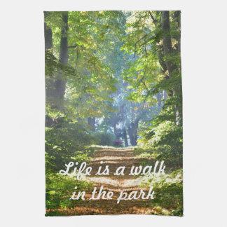 La vida es un paseo en el sistema de la toalla de