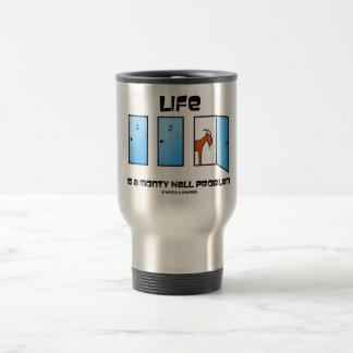 La vida es un problema de Monty Pasillo (tres Taza De Viaje