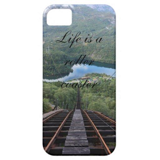 La vida es un roller coaster iPhone 5 fundas