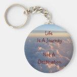 La vida es un viaje no un destino llavero personalizado