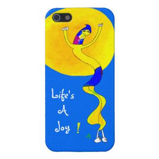 La vida es una alegría, línea Squiggly individuo iPhone 5 Funda