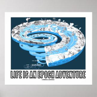 La vida es una aventura de la época (el tiempo geo poster