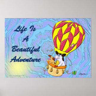 La vida es una aventura hermosa poster