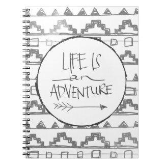 La vida es una aventura libreta