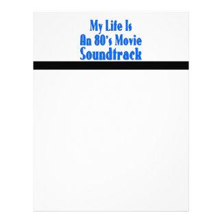 La vida es una banda de sonido de la película de l plantillas de membrete