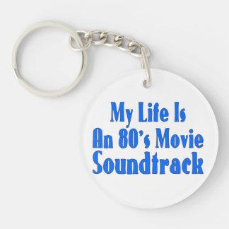 La vida es una banda de sonido de la película de llavero redondo acrílico a doble cara