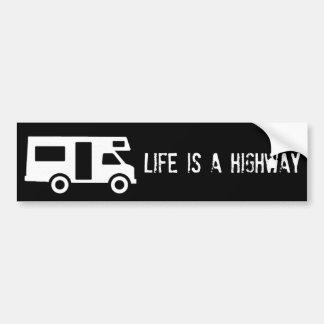 La vida es una carretera pegatina de parachoque