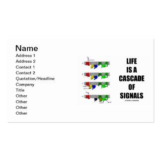 La vida es una cascada de las señales (la tarjetas de visita