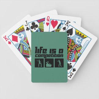 La vida es una competencia baraja cartas de poker