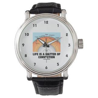 La vida es una cuestión de convección (la relojes de mano