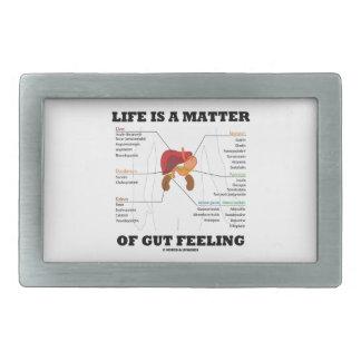 La vida es una cuestión de humor anatómico del hebilla cinturón rectangular