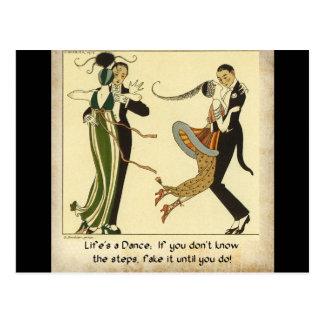 La vida es una danza:  Postal