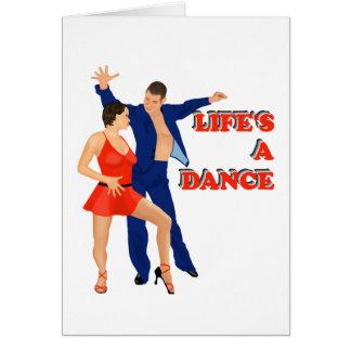 La vida es una danza tarjeta de felicitación