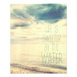 La vida es una escena más dulce de la playa tarjetón