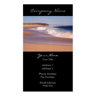 La vida es una foto de la playa tarjetas de visita