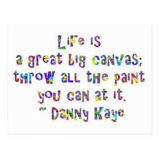 La vida es una gran postal grande de la lona