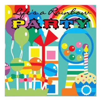 La vida es una invitación del cumpleaños del arco