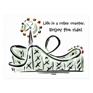 La vida es una montaña rusa. ¡Disfrute del paseo!  Postales