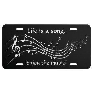 La vida es una placa de la canción placa de matrícula