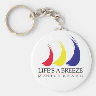 La vida es una playa de Breeze™_Paint-The-Wind_Myr Llavero Redondo Tipo Pin
