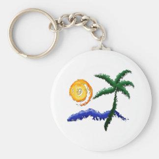 La vida es una playa llavero personalizado